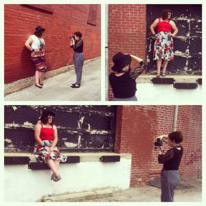 Here's a sneak peak of the photoshoot. Cred: We Are Brazen