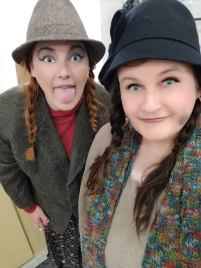 Me and Laura Uhl as Hooverville bums in Annie (photo credit: Laura)